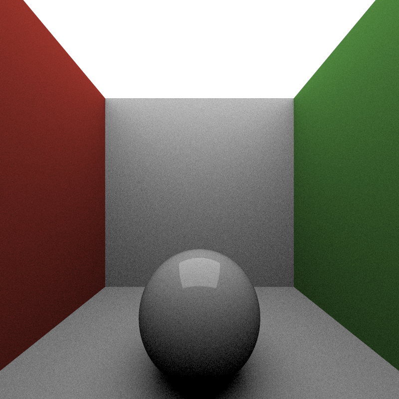 Max Bounce Depth of 2, 200 iterations, took 480 seconds to render.