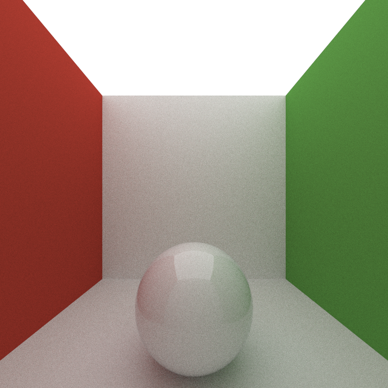 Max Bounce Depth of 5, 200 iterations, took 811 seconds to render.