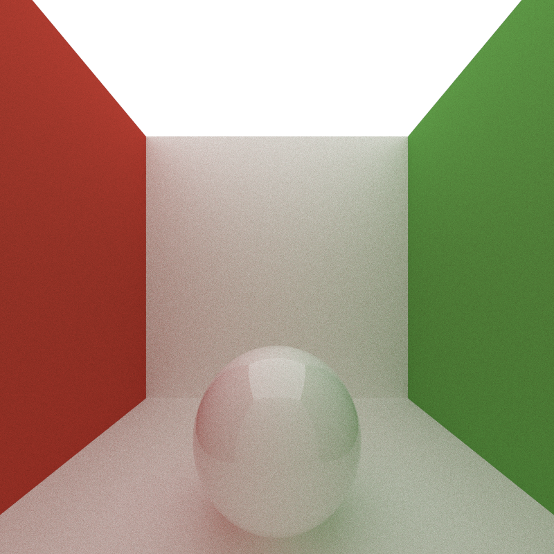 Max Bounce Depth of 50, 200 iterations, took 1325 seconds to render.