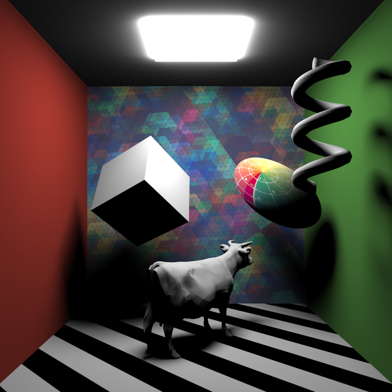 Ground truth for direct lighting contribution only, with all lights sampled by BRDF only.