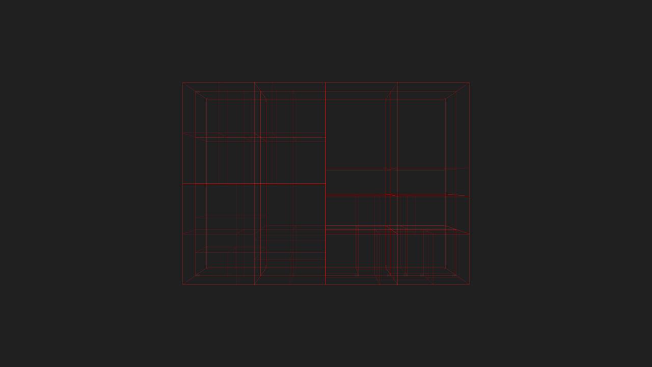Max depth 5, min objects per node 20, min volume .0001% of whole tree