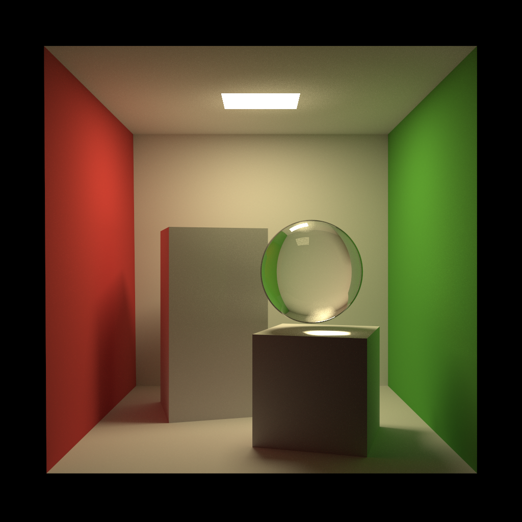Floating glass ball as another caustics test.