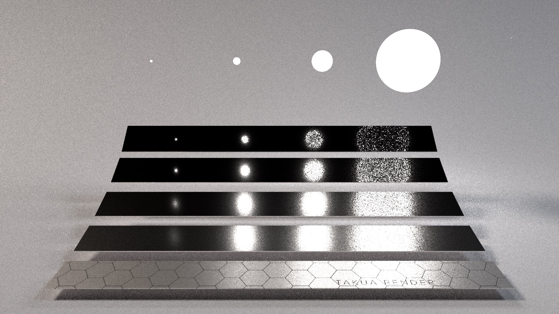 Light sampling only, 64 iterations.