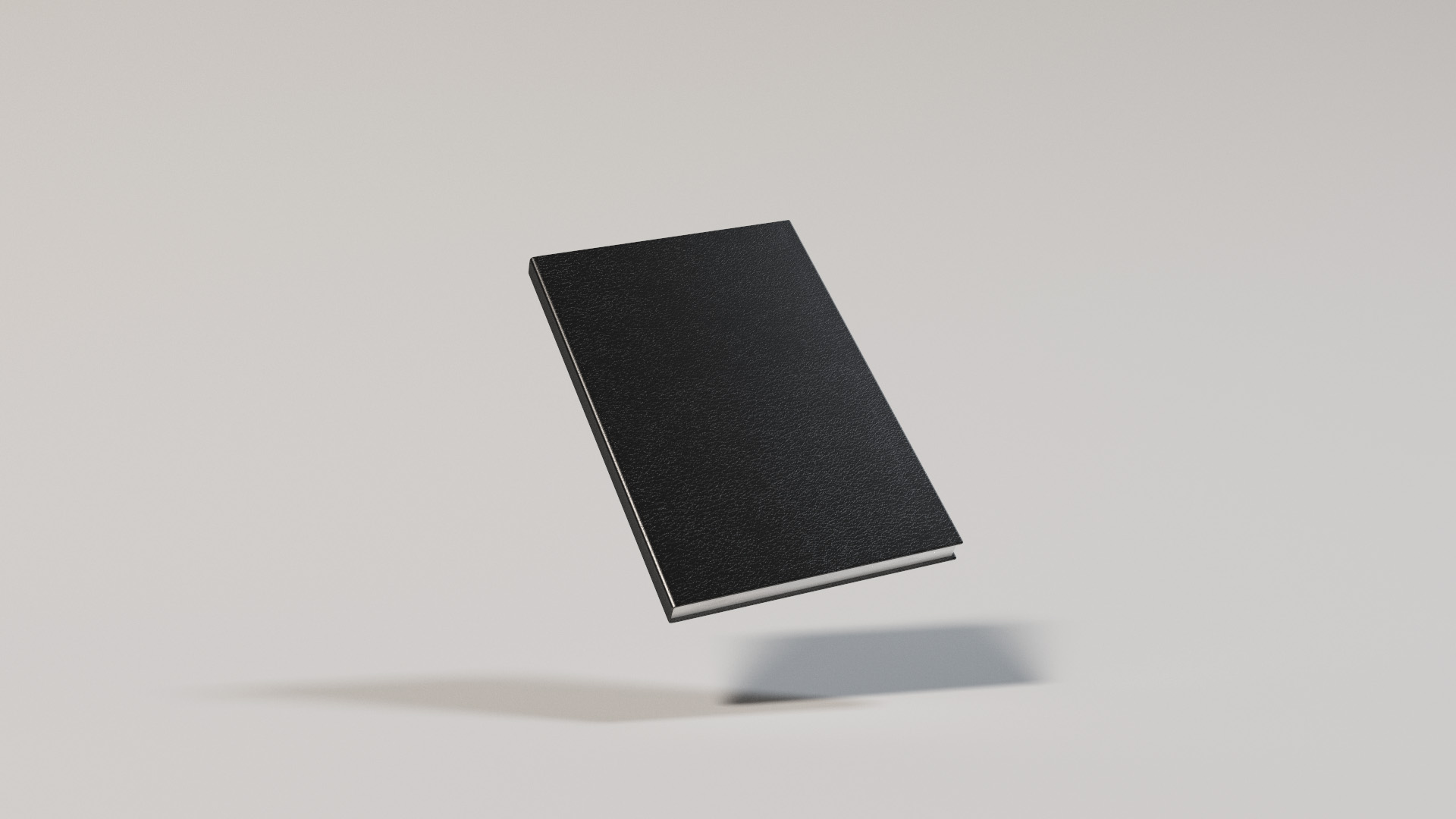 Notebook with a leathery surface. All surface detail comes from bump mapping. Rendered using BDPT.