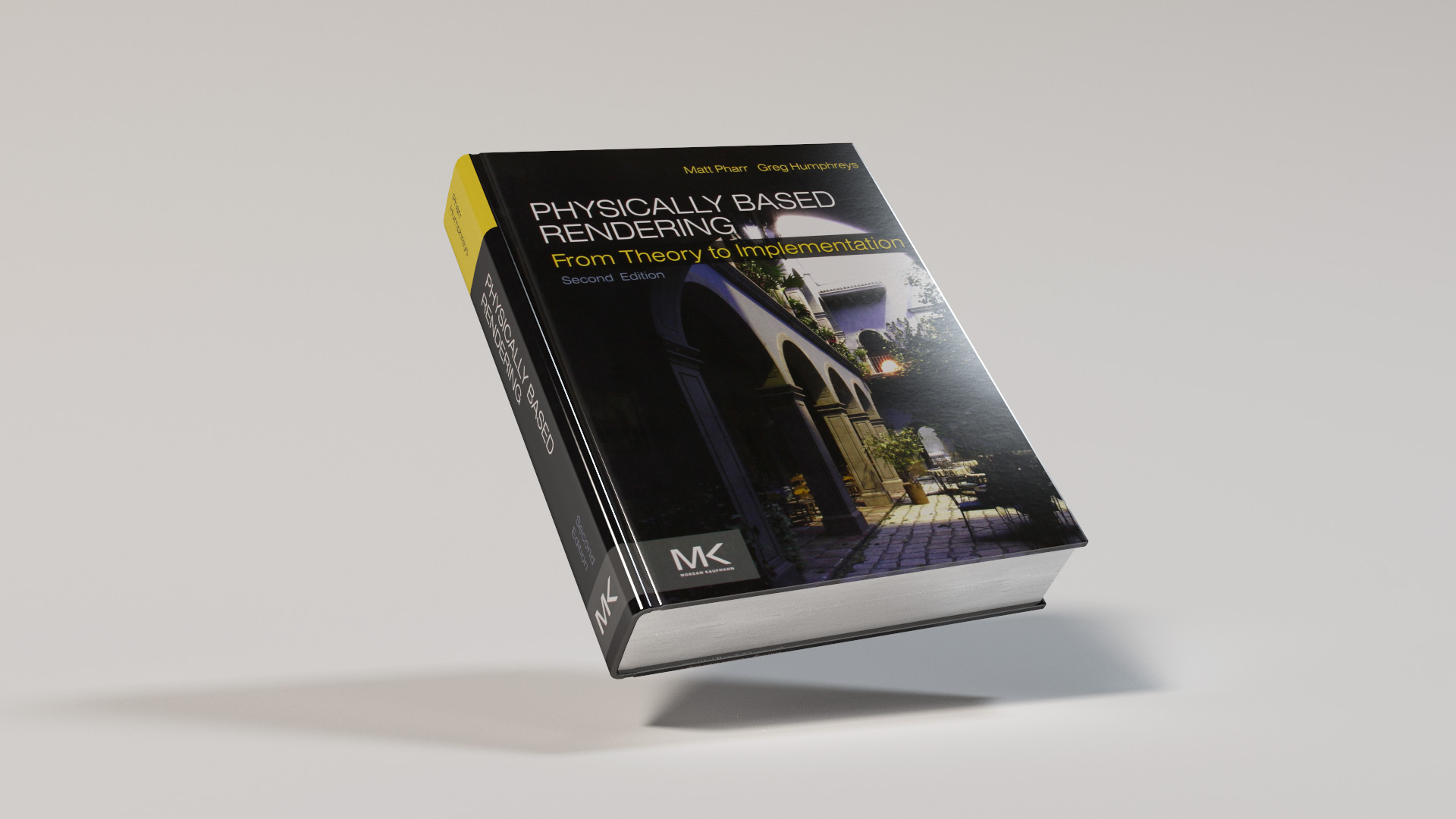 Physically Based Rendering book, rendered with my physically based renderer. Note the texture-driven gloss and specular properties. Rendered using BDPT.