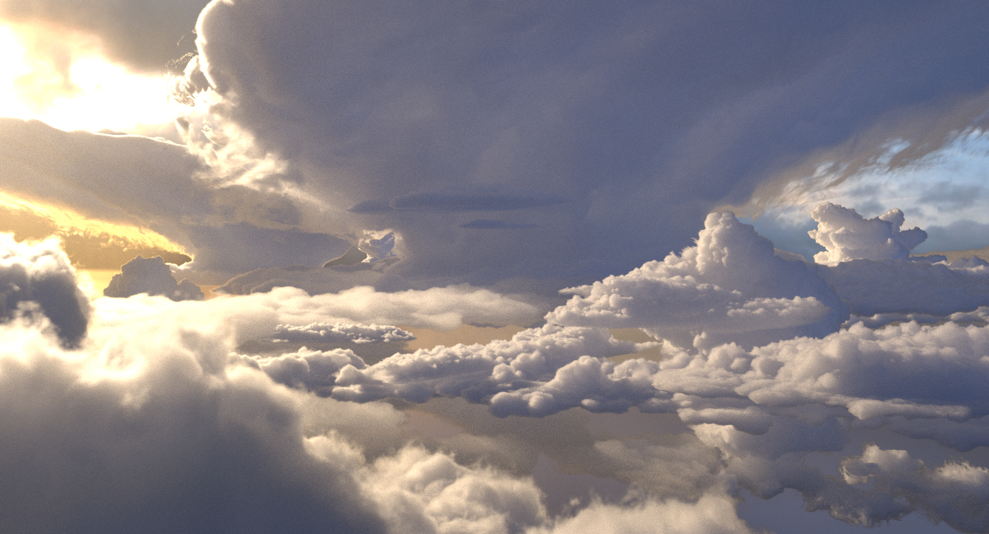 Image from paper Figure 1: a cloudscape rendered using spectral and decomposition tracking.