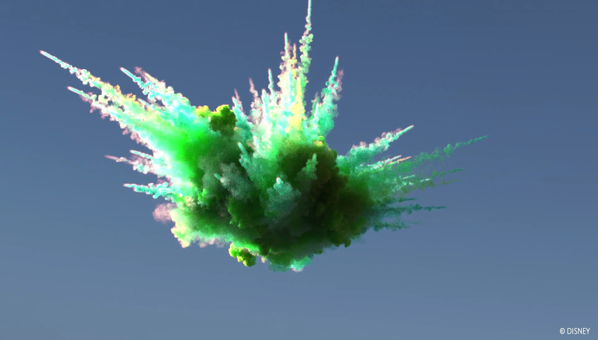 A green-yellow color explosion from our SIGGRAPH Fast Forward video.