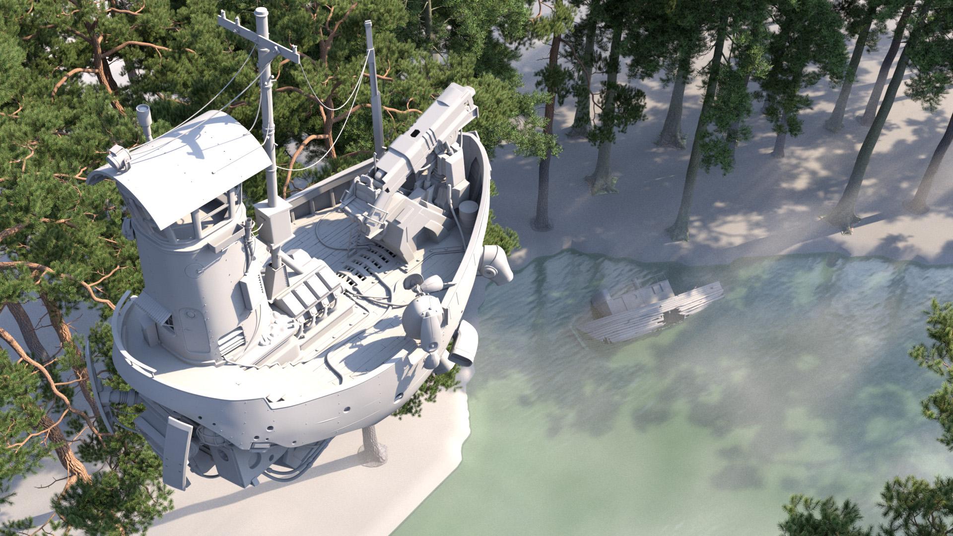 "Figure 4: Initial ""River Explorer"" concept, daylight lighting test."