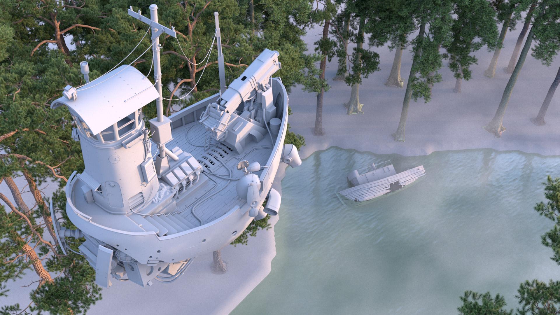 "Figure 5: Initial ""River Explorer"" concept, dusk lighting test."