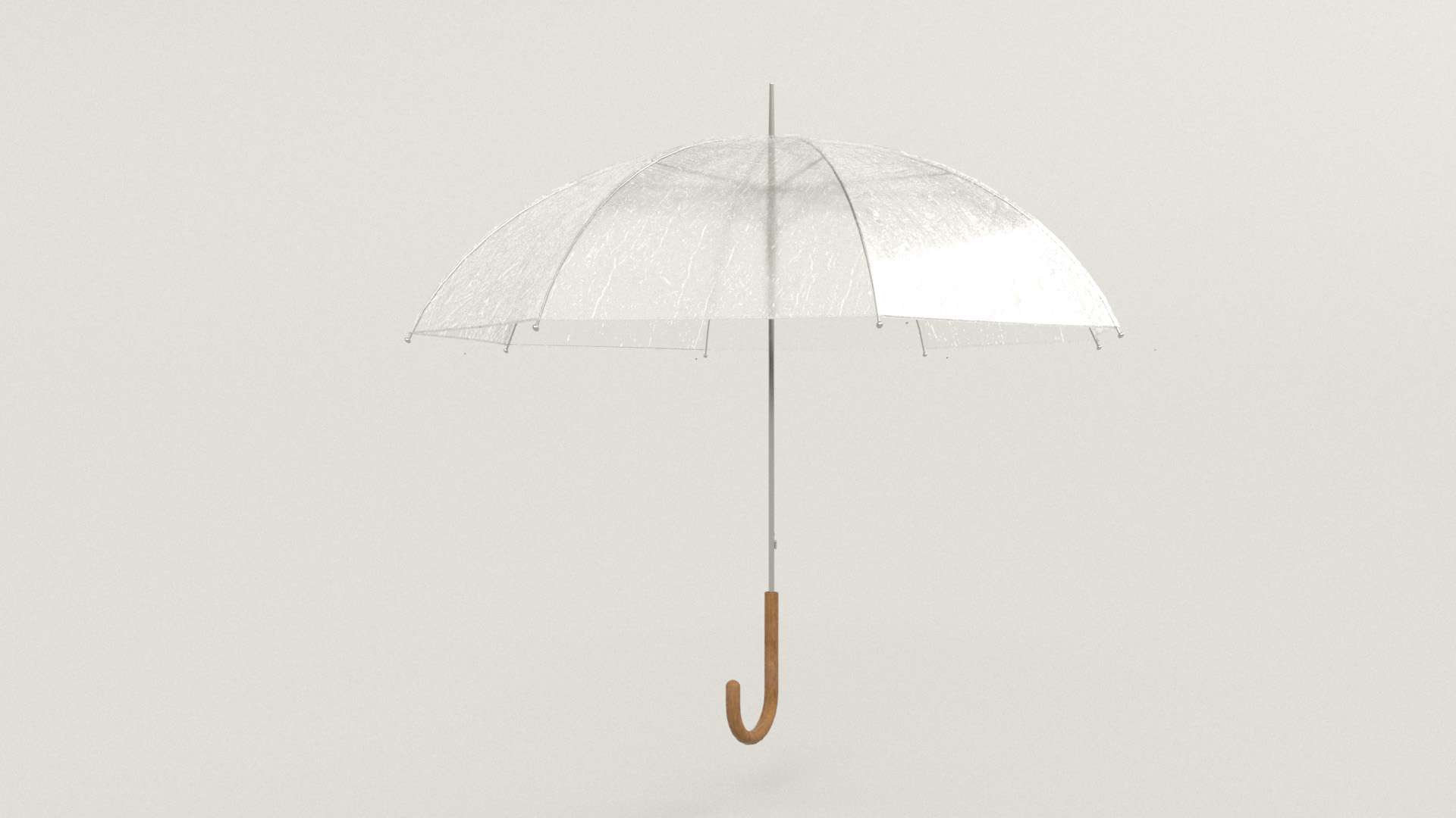 Figure 36: Lookdev test of the umbrella, with wet effect applied.