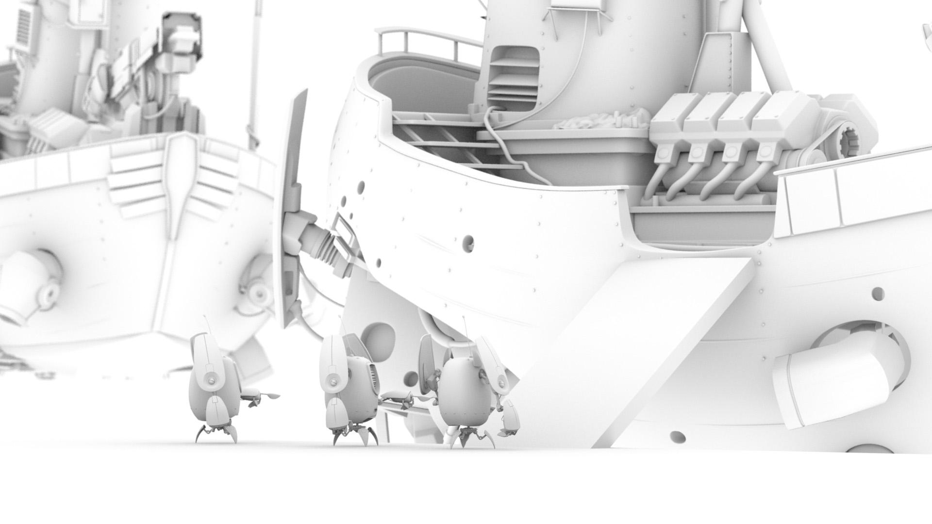 "Figure 6: Rough AO render ""sketch"" that eventually evolved into my final idea."