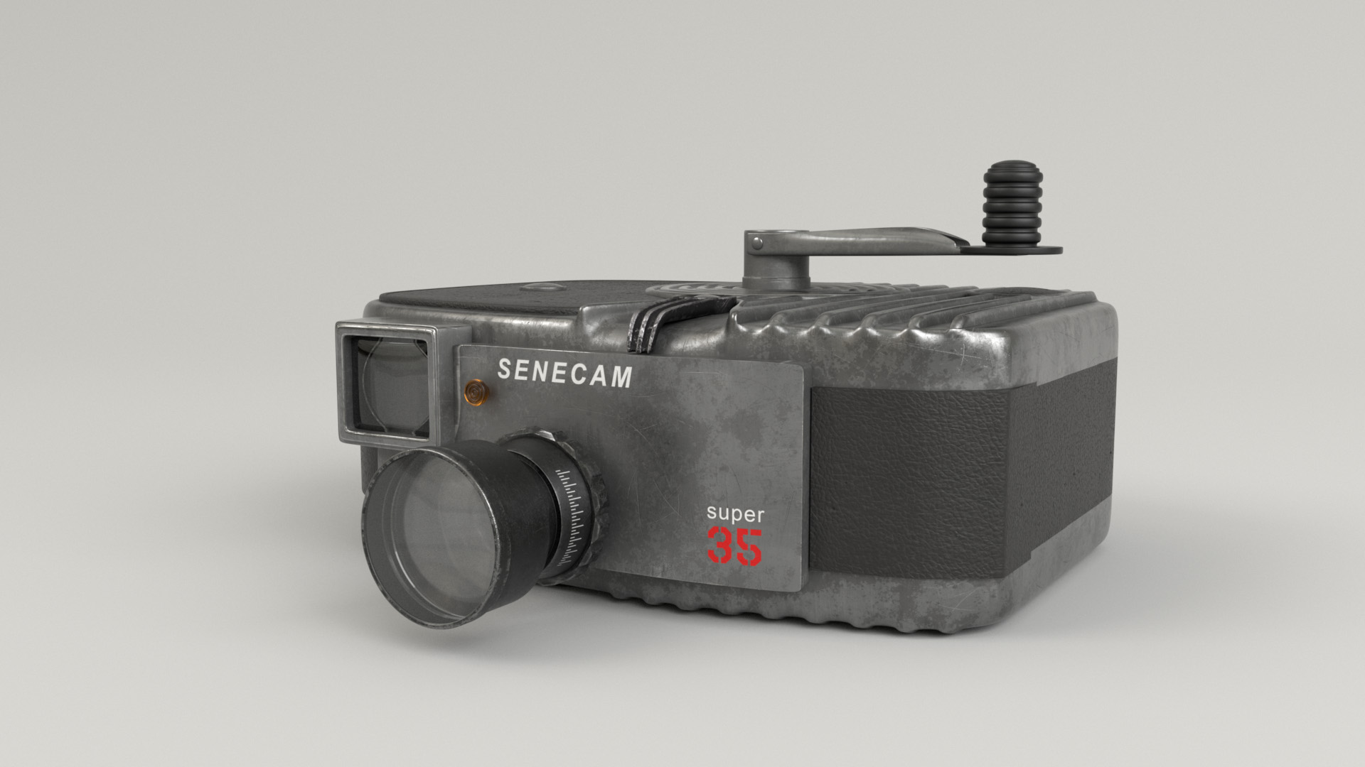Figure 22: Camera prop front view. Note all of the layers of refraction and reflection in the lens.