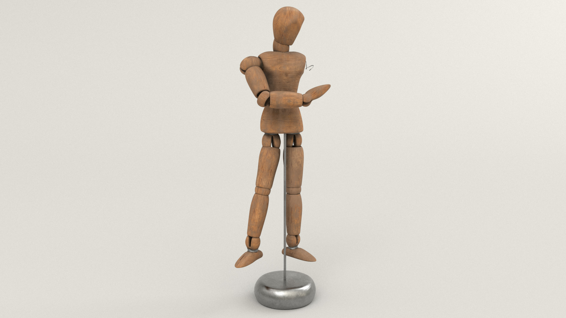 Figure 18: Mannequin prop made from wood and metal.