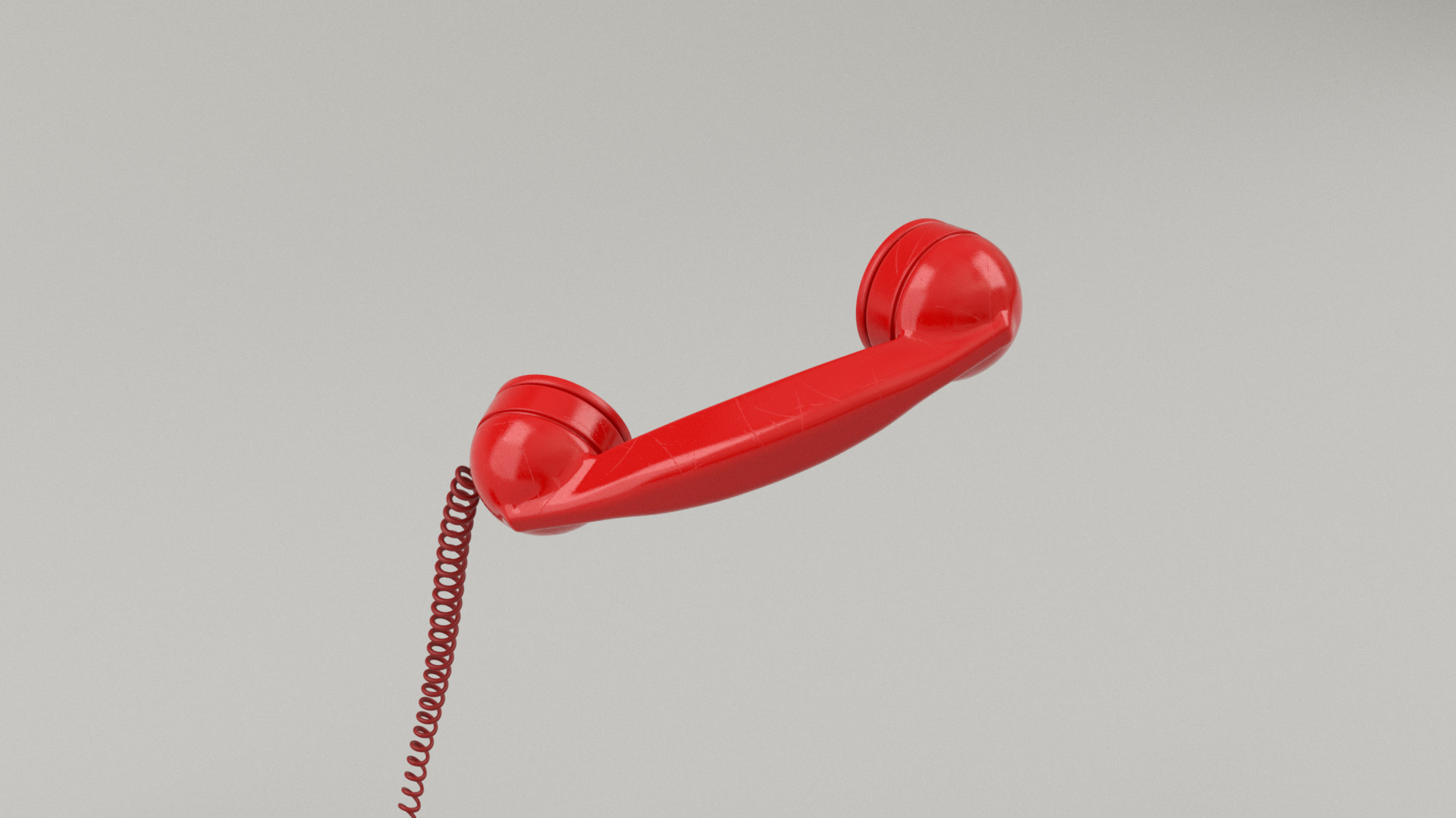 Figure 29: Phone handset, made from red plastic.