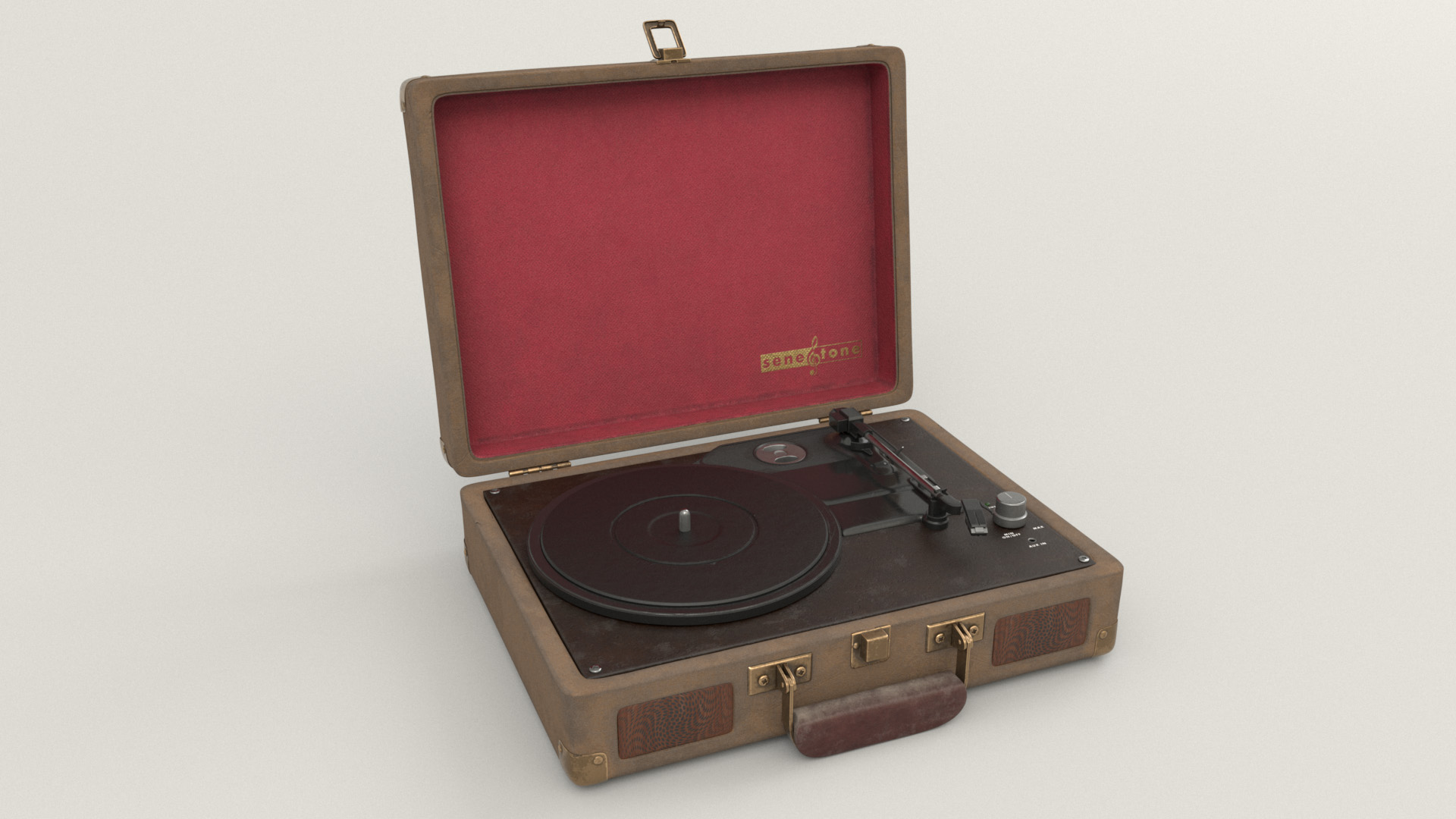 Figure 19: Record player briefcase prop, wide view.